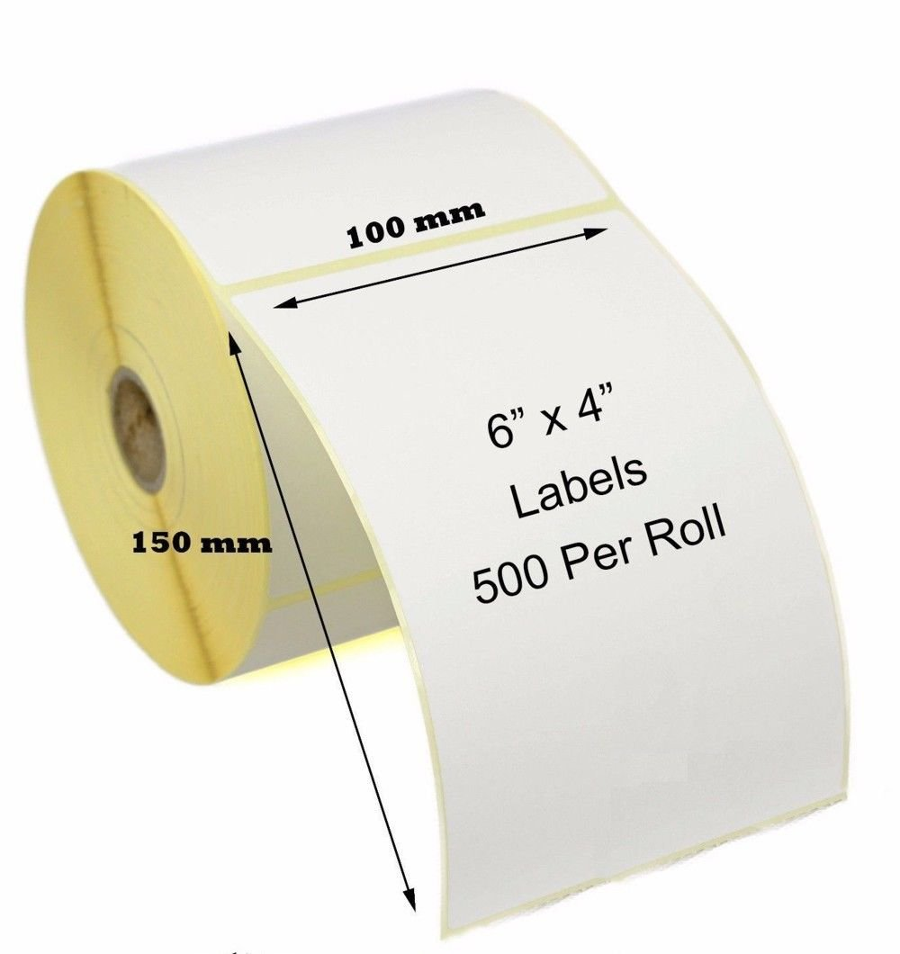 Verpackung & Versand 100 x 50 mm WHITE Thermal Labels for Zebra