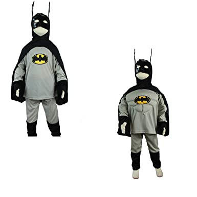 Gray Kinder Batman Kostum Superhelden Karneval Halloween Fasching
