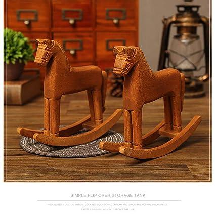 Cavallo Di Legno Giocattolo.Zaote Cavallo A Dondolo Deluxe Artigianato In Legno A