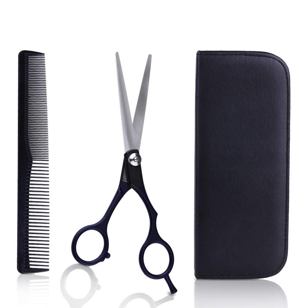TC JOY Hair Cutting Scissors Set, Professional Barber-Salon Hairdressing Razor-Stainless Steel Shear with Hair Comb 6.5 inch TC JOY M SB-124