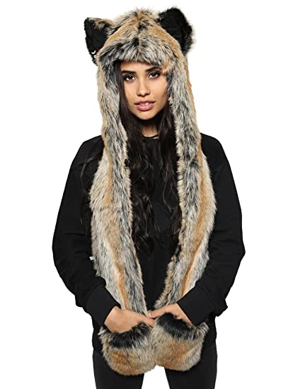 73ce2d880 SpiritHoods Unisex Adult Red Wolf Full Length Hood
