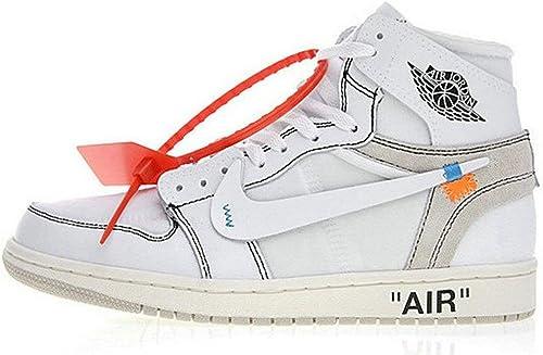 unisex off white air jordan 1 joshua aa3834 002 white basketball shoes amazon de schuhe handtaschen amazon de