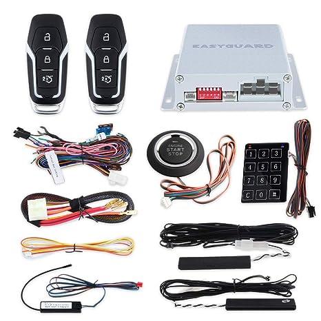 Easyguard EC002-FO2 - Kit de Llave Inteligente PKE para Entrada pasiva, botón de