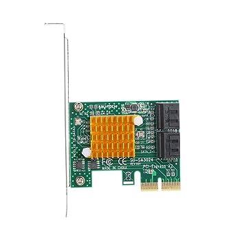 Huacaili Disco Duro y Accesorios Tarjeta PCIE X2 a 4 Puertos ...