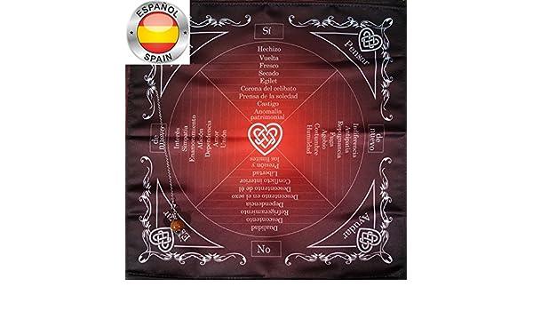 Mantel para ajustar el péndulo del amor de magia, emoción y Relaciones People + Péndulo estrella aventurina.: Amazon.es: Hogar