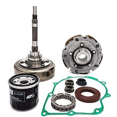 koxuyim Clutch Kits Assembly compatible with ATV UTV hisun,includes Clutch one way bearing,filter,Drum, housing For utv,hs700,msu,500, UTV700, ATV500, ATV700: Automotive
