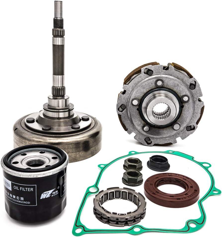 koxuyim Clutch Kits Assembly compatible with ATV UTV hisun,includes Clutch one way bearing,filter,Drum, housing For utv,hs700,msu,500, UTV700, ATV500, ATV700