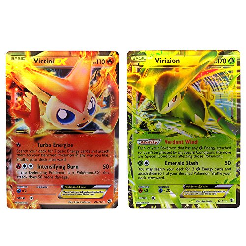 Victini & Virizion Collection Cards EX Set - 9/101 / 24/113 Packed in Box and Sleeves