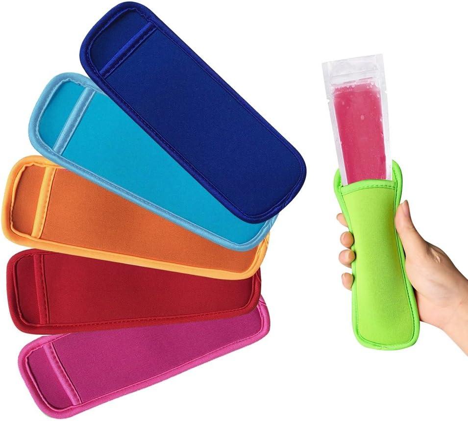 hielo o paletas congeladas AUTOPkio 100 piezas Bolsas para helados de paletas de hielo con 1 pz De embudo y 3 piezas Mangas para helados de yogur 22 x 6cm BPA Freezer Zip-Top