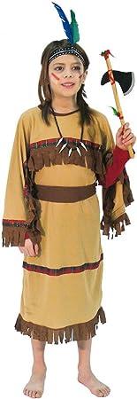 Disfraz de india marrón para niña - 10-12 años: Amazon.es ...