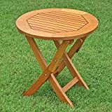 Royal Tahiti Outdoor Furniture: 19-Inch Round Folding Table For Sale