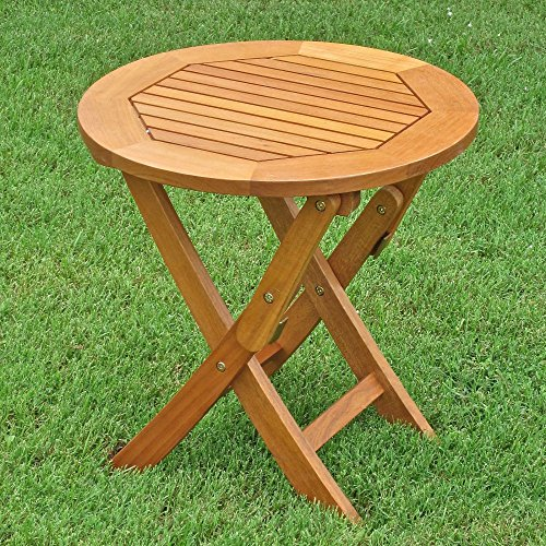 Royal Tahiti Outdoor Furniture: 19-Inch Round Folding Table