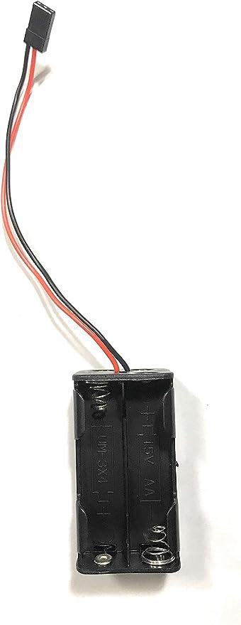 Paquete de 1 Pieza Negro DA-0TJ3-IOJD YUNIQUE ESPANA- 1.5V AA Soporte De La Bater/ía//Case//Caja con Cable de Enchufe JR