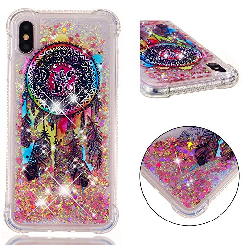 - UZER iPhone Xs Max Case, Shockproof Series Cartoon Cute Bling Quicksand Liquid Moving Flowing Twinkle Glitter Shining Sparkle Diamond TPU Bumper Protective Case for iPhone Xs Max 6.5 Inch 2018
