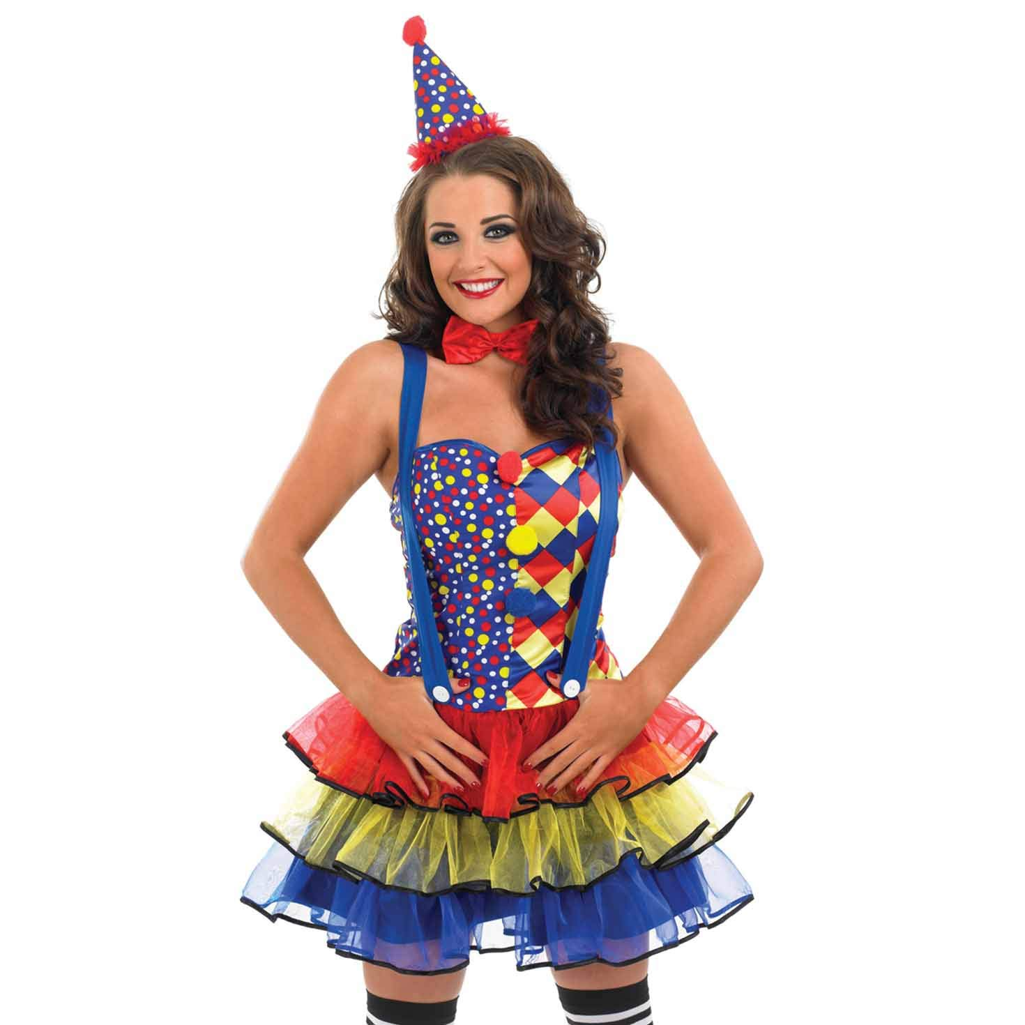 Fun Shack- Costume Disfraz, Color Clown Tutu Dress, Mujeres: 16-18 ...