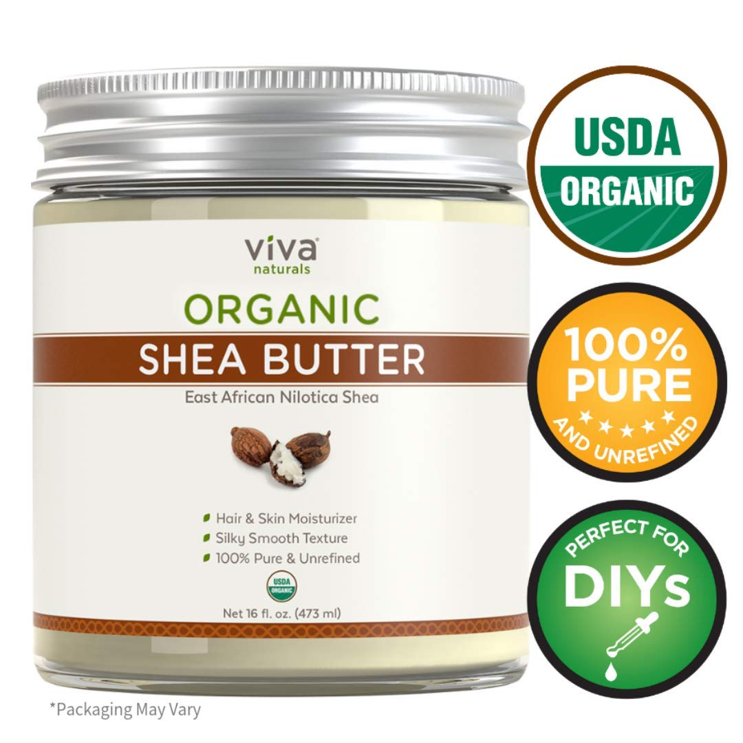 Viva Naturals, Organic Shea Butter, Raw and Unrefined, Skin Moisturizer, Perfect for All DIY Recipes (16 oz) by Viva Naturals