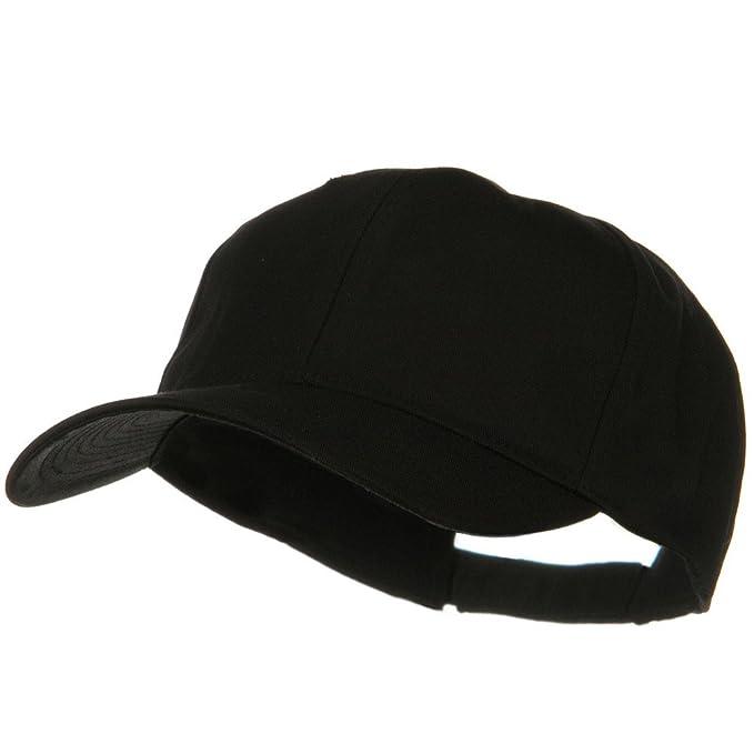 7dea68ce244 E4hats New Big Size High Profile Twill Cap - Black OSFM  Amazon.ca ...