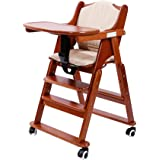 Amazon Com Abiie Beyond Wooden High Chair With Tray The