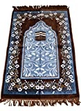 Islamic Prayer Rugs Made in Turkey with Fine Velvet Superior Quality (Brown)