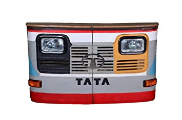 Priti Export Design 3 Piece Big Tata Bar Counter L Tata Bar Cabinet L With Headlight & Indicator Cabinet