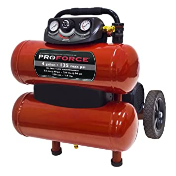 Pro Force vkf1080418 4-Gallon sin aceite compresor de aire con Dolly y extra valor Kit: Amazon.es: Bricolaje y herramientas