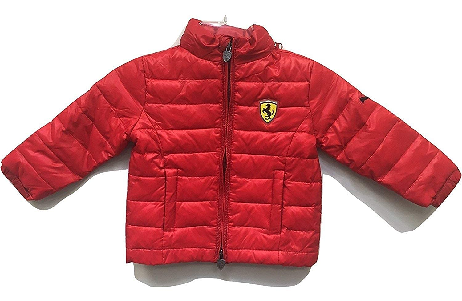 PUMA Ferrari Boys Puffy Jacket Red