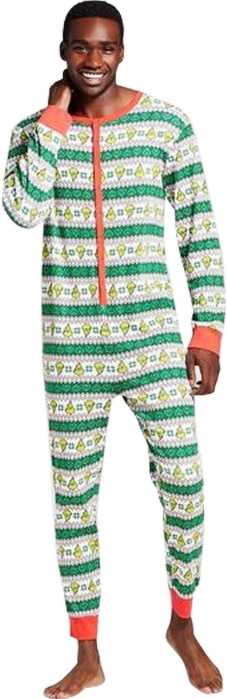 SISAY Natale Famiglia Pigiama Uguale Uomo Donna Bambino Tuta con Bottoni