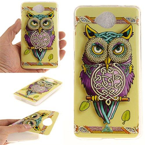 Protection Souple Nokia Slim Cas Transparent owl Scratch De De Motif Lumia Fit Bord Arrière TPU En Cas Antichoc Microsoft Hozor 650 Couverture Peint Silicone Téléphone Résistant 8xqffB