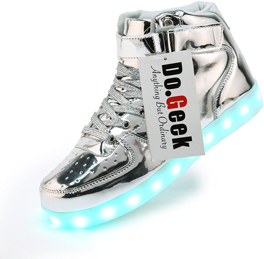 silver light up sneakers