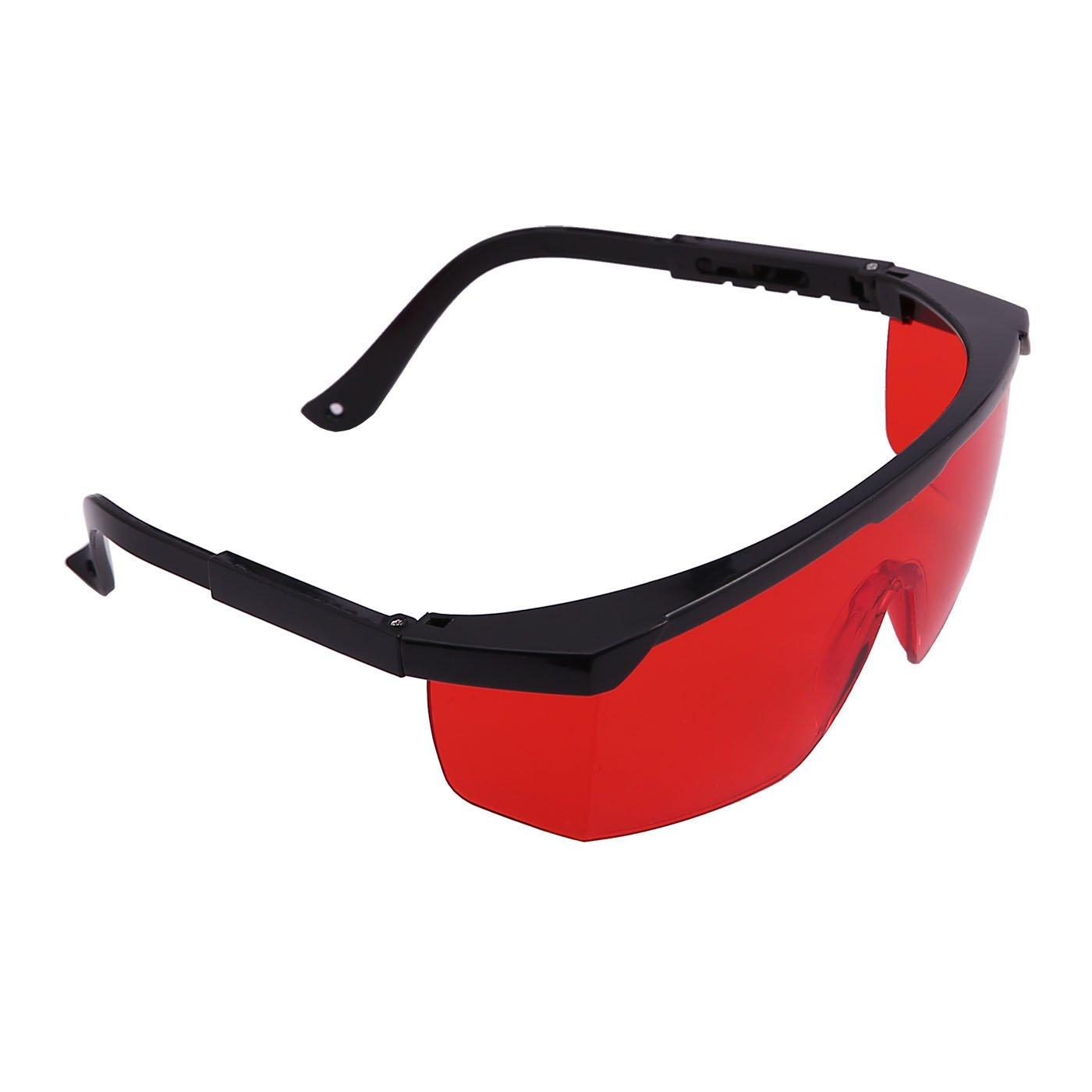 HDE - Gafas de seguridad para nivel láser (con caja protectora), color rojo: Amazon.es: Bricolaje y herramientas