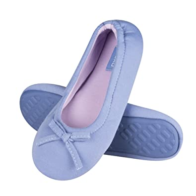 68ed1f3ac4 soxo Elegant Women s Two-Colored Ballerina Slippers with Hard Sole Perfect   Amazon.co.uk  Shoes   Bags