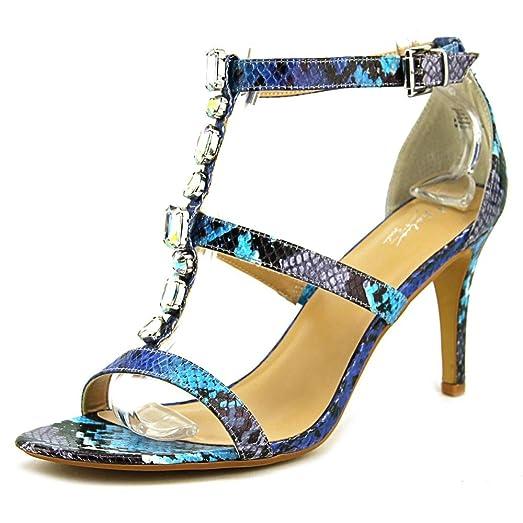 Thalia Sodi Playa Open Toe Synthetic Sandals Blue For Women On Sale