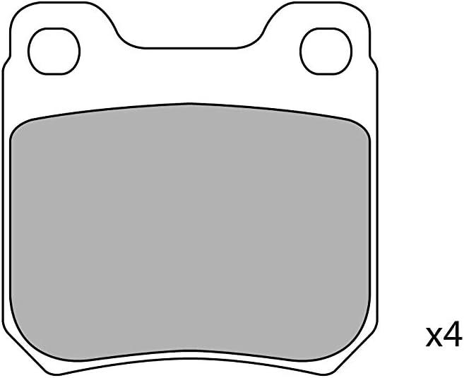 Celect CS2105001J Disc Brake Pad Set Set of 4