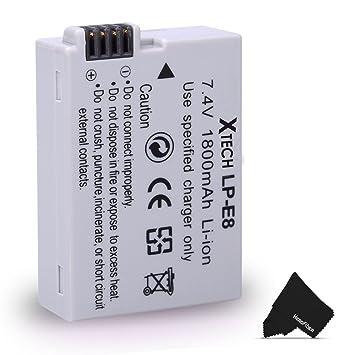Amazon.com: Alta Capacidad Batería de repuesto para Canon LP ...