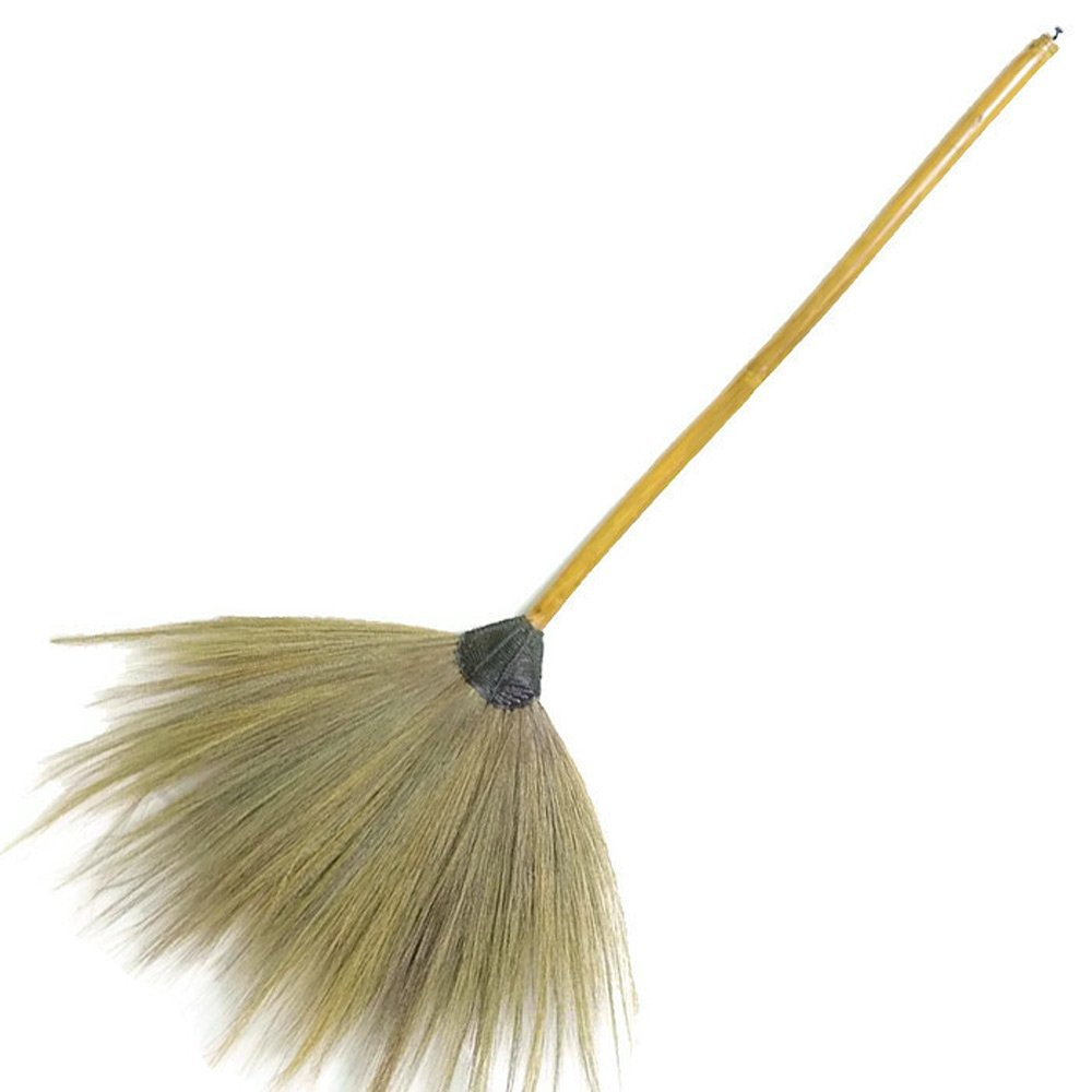 sarcha Broom grass handmade in thai woodhandle use for cleaning or decorative 42 inches long it's must- have item by sarcha
