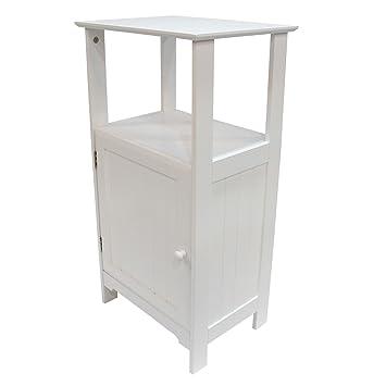 Asense 25 Inch High Bathroom Floor Cabinet For Bathroom Toiletries, White