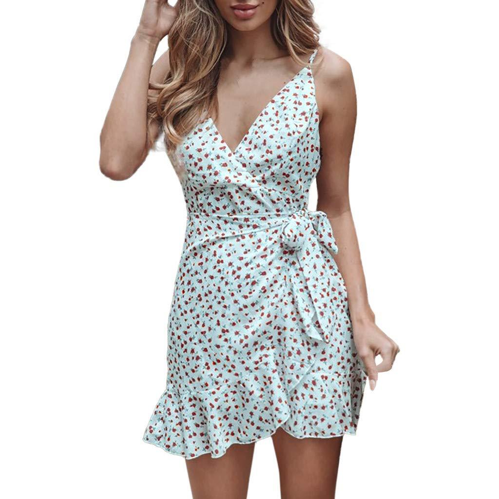 ZZXIAN Kleid Casual Kleider Boho. Sommerkleid Chiffon Kurz Strandkleider Damen Sommer Minikleid Party Abendkleider Off Shoulder Partykleid Sexy