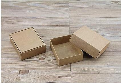 10 Tamaños regalo de Kraft Blanco Negro caja de embalaje de cartón Kraft papel en blanco caja de regalo de papel con la tapa de regalo de cartón caja de cartón: Amazon.es: