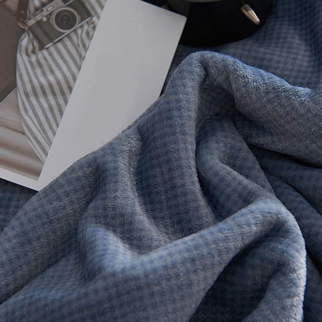esponjosa y c/álida s/úper Suave Tejido de poli/éster superfino de Felpa KHJKHJ Cobija- Ropa de Cama Franela Coral Fleece Blanket Manta de sof/á de Cama de Madera Maciza Liviana