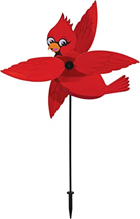 Cardinal Whirligig Wind Spinner