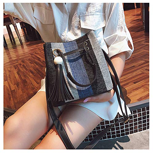 Azul única mujer mochila talla MENGMA para Bolso W8wFYnvq0