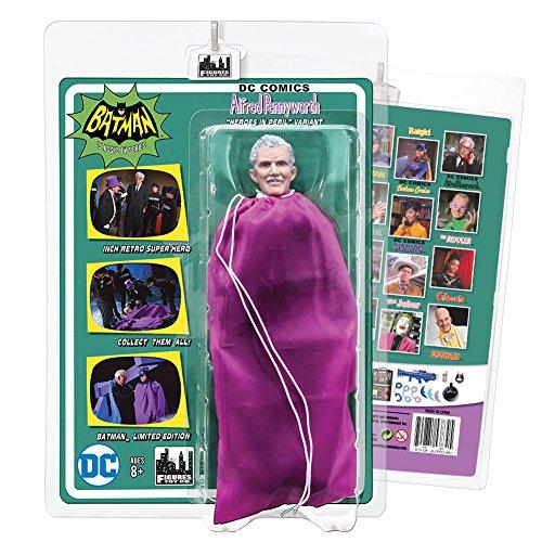 "Batman Classic TV Series 8 Inch Figures ""Heroes In Peril"" Series 2 Deluxe Alfred Pennyworth Purple Bag Variant"