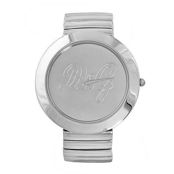 D&G Dolce&Gabbana DW0280 - Reloj analógico de mujer de cuarzo con correa de acero inoxidable plateada