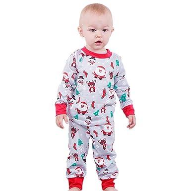 d8fc816e1842c Kolylong 2018 Noël vêtements de Nuit 2pcs Tenues Ensemble bébé Enfants  Filles garçons hvier Pull Top + Pantalons ...