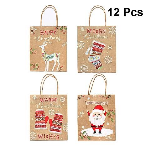 SALIFTY 12PCS 23 x 18 x 10 cm Bolsas de regalo de Navidad ...