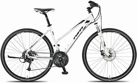 KTM Life Track Mujer bicicleta híbrida, 2015, blanco negro RH 43 ...
