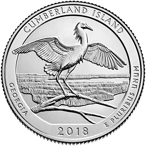 2018 P, D Cumberland Island Seashore, GA National Park Quarter Singles - 2 Coin Set ()