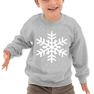 The Sticky Cat Kids Snowflake White Vector Graphic Humor Crewneck Long Sleeve T-Shirt