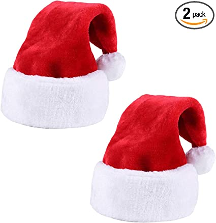CHRISTMAS PARTY KIDS ADULT SANTA HAT RED AND WHITE XMAS CAP FOR SANTA CLAUS GIFT