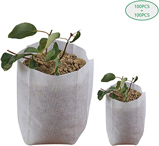 YOFASEN Bolsas de Cultivo - Biodegradable Tela no Tejida Bolsas de ...